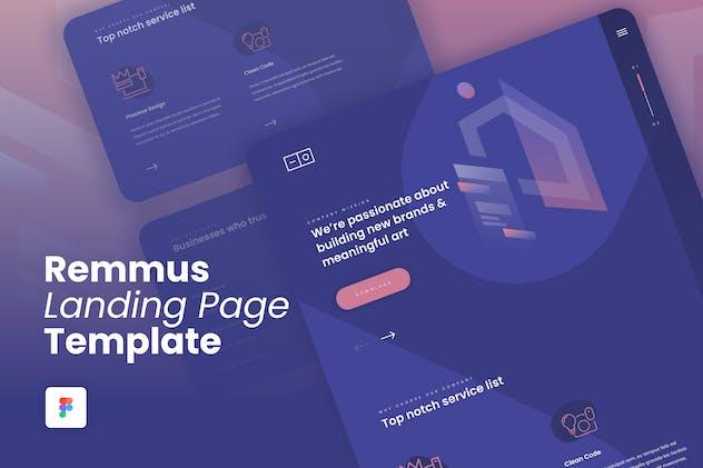 Remmus - Landing Page Figma Template