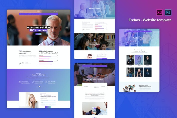 Thumbnail for Erebos - Corporate Business Website Templates