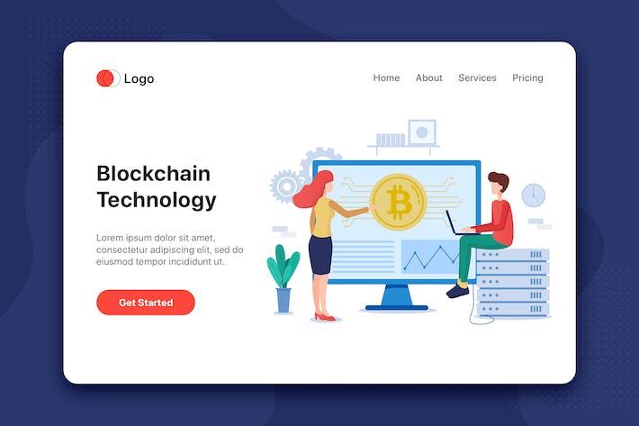 Thumbnail for Blockchain technology flat illustration concept