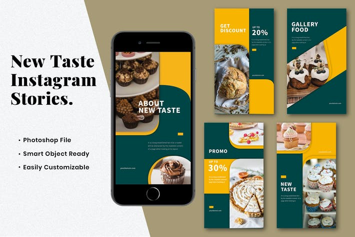 Thumbnail for BMS New Taste Instagram Stories Template