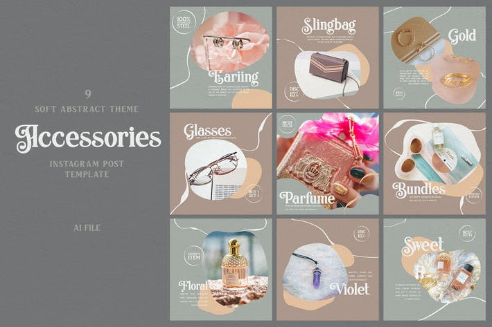 Thumbnail for Soft Abstract Theme - Accessories Instagram Post