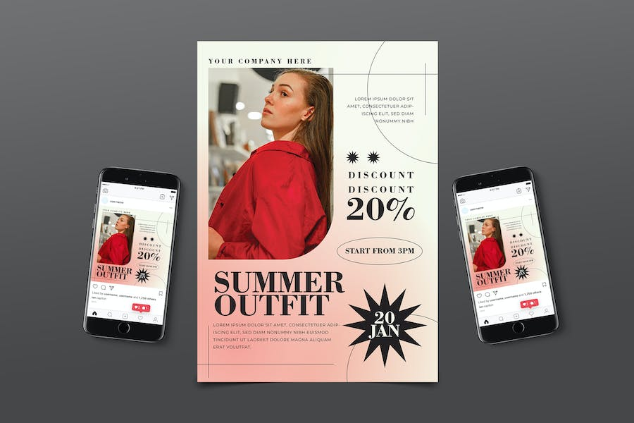 90s Summer Fashion Flyer Pack