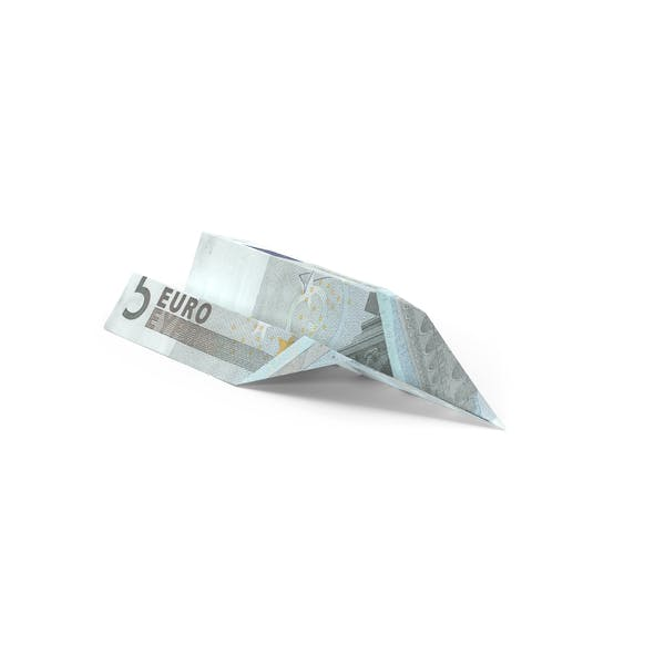 5 Euro Bill Paper Airplane