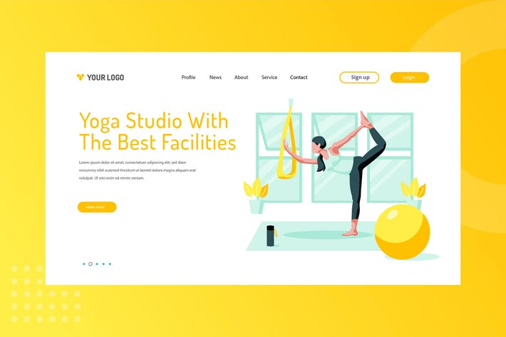 Yoga Studio With The Best Facilities Landing Page