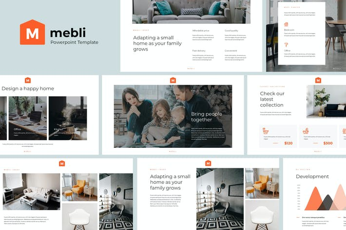 MEBLI - Simple & Elegant Powerpoint Template
