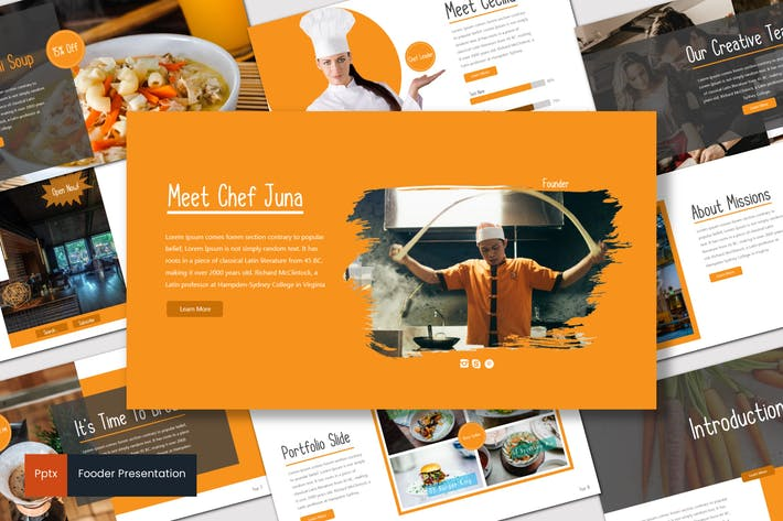 Thumbnail for Fooder - Powerpoint Template