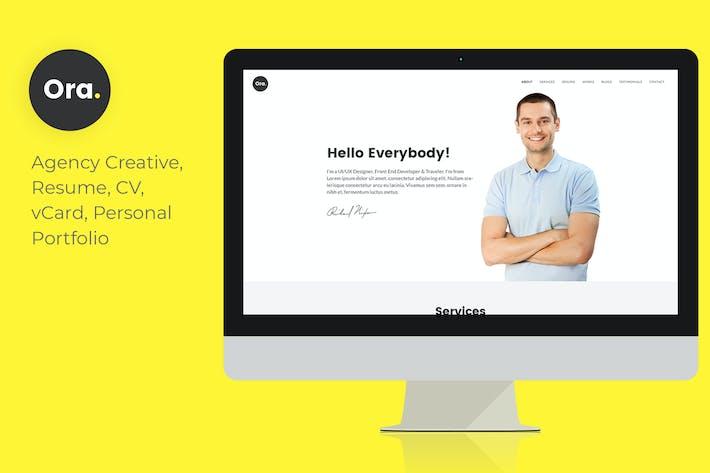 Thumbnail for Ora - Responsive Personal Portfolio