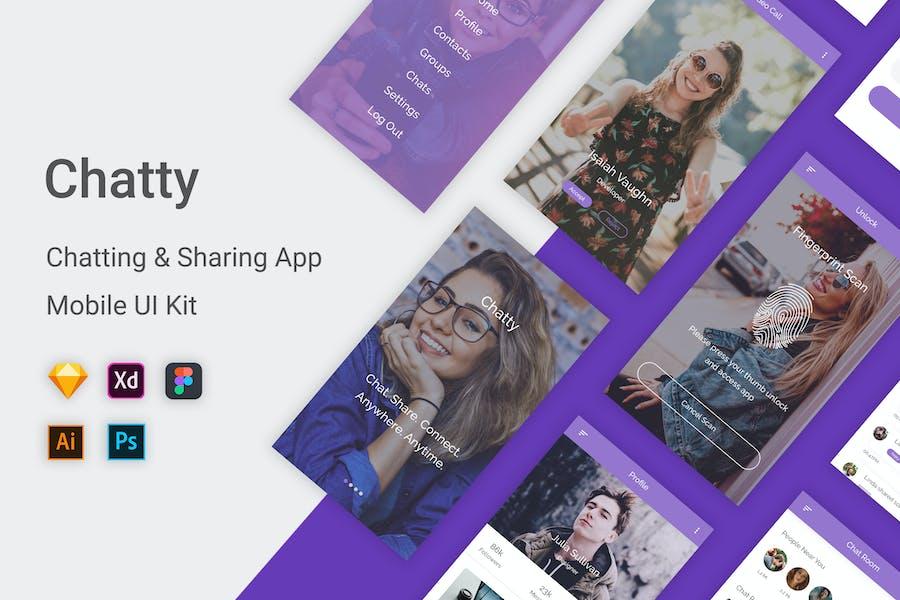 Chatty - Chatting & Sharing App