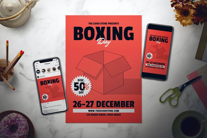 Boxing Day Flyer Set