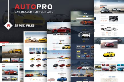 Autopro - PSD Template for Car and Auto Dealers