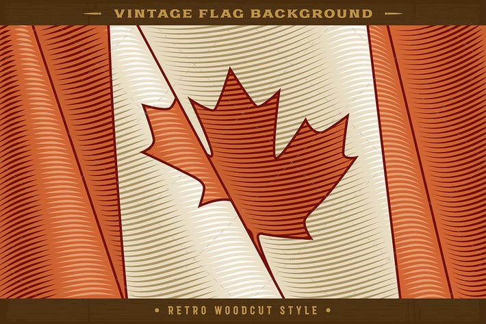 Thumbnail for Vintage Canadian Flag Background