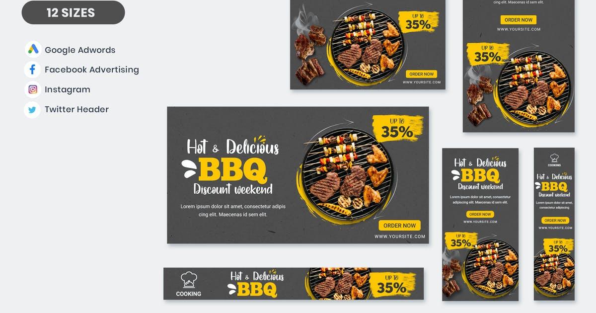 Download Food BBQ Banner Template by nanoagency