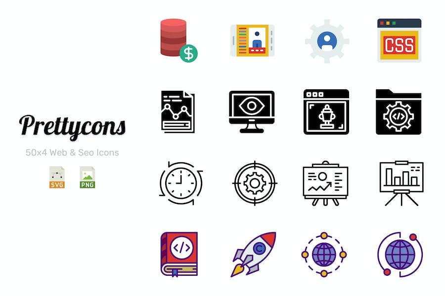 Prettycons - 200 Web & Seo Icons Vol.1