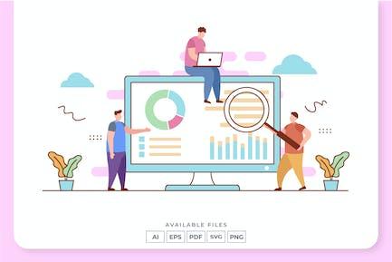 Data Analyst Concept Illustration