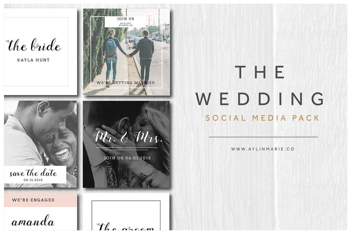 Thumbnail for The Wedding - Social Media Pack
