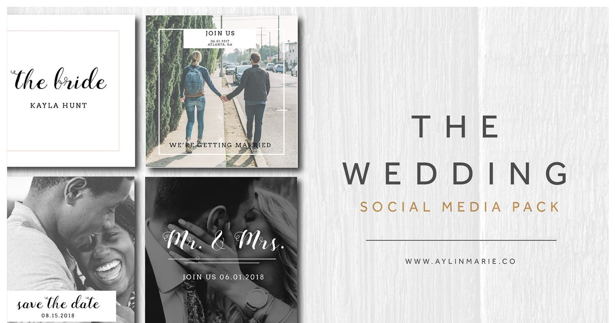 Download The Wedding - Social Media Pack by aylinmarie