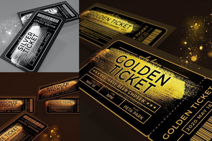 Thumbnail for Multipurpose Golden Ticket Invitation