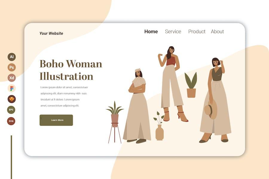 Boho Woman Vol 3 - Landing Page Template