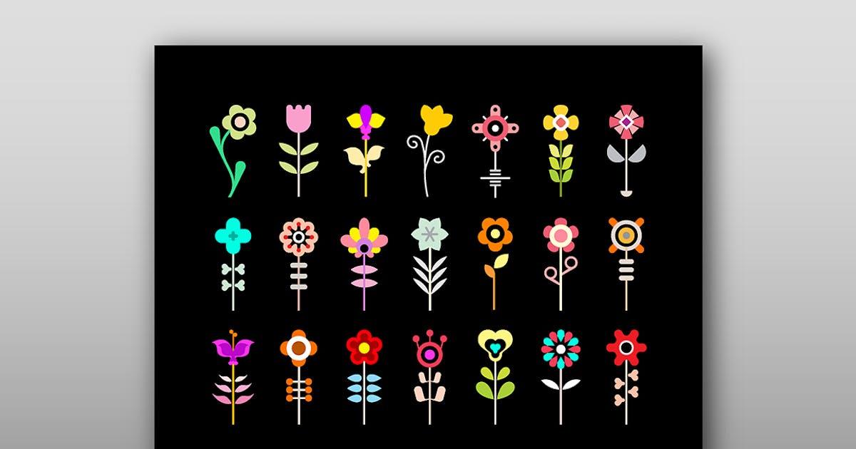 Download Flower Vector Icon Set by danjazzia
