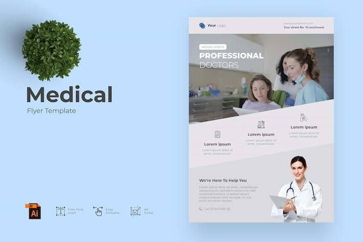 Medical - Flyer Design Template