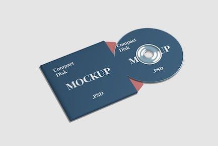 Compact Disk Mockup High Angle View