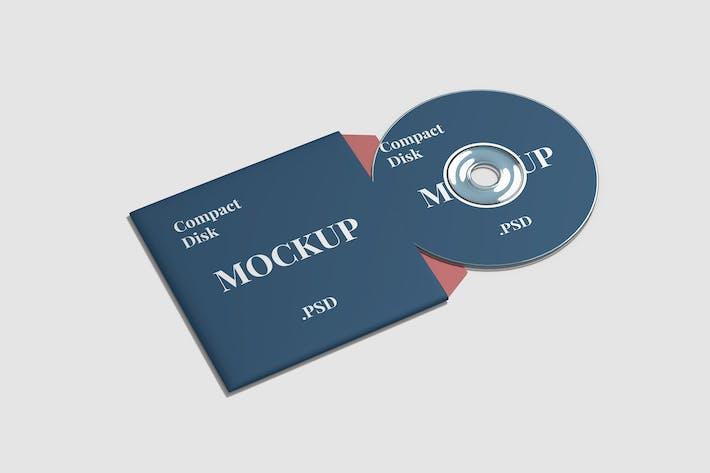 Thumbnail for Compact Disk Mockup High Angle View