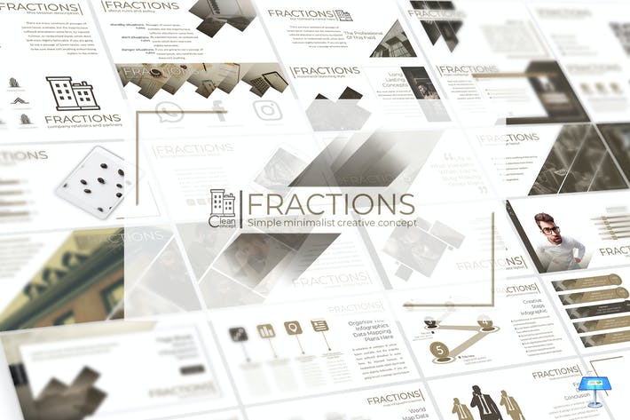 Thumbnail for Fractions- Keynote Template