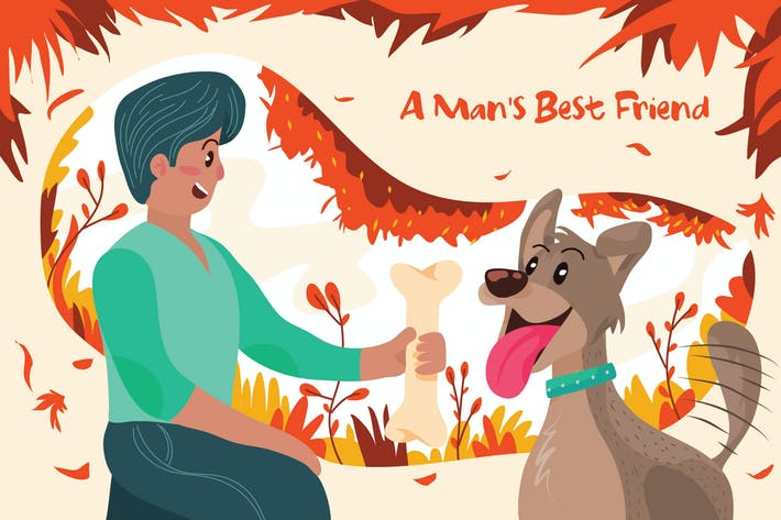 Thumbnail for Mans Best Friend - Vektor illustration