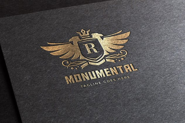 Monumental Logo Template - product preview 2