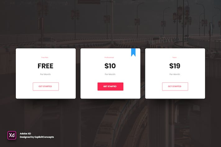 Thumbnail for Pricing Table Vol 01 - Adobe XD