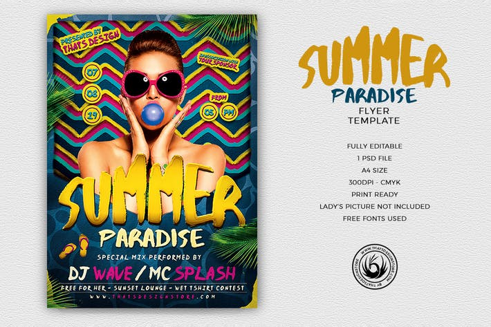 Thumbnail for Summer Paradise Flyer Template
