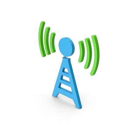 Symbol Antenna Blue Green