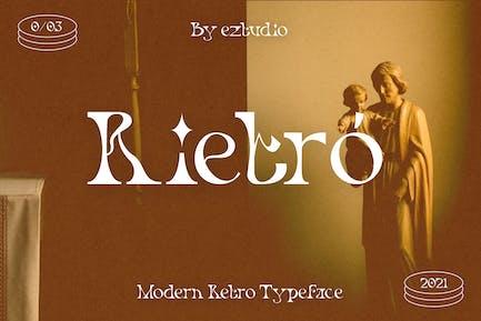 Modern Retro Font - Rietro