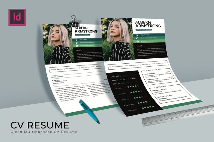 Thumbnail for Albern CV Resume Template