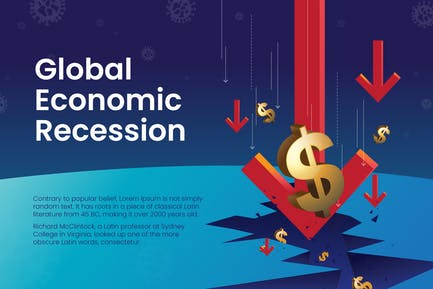 Global Economic Recession Vector Illustration