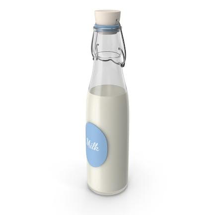 Etiqueta de botella de leche