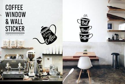 Coffee Window & Wall Sticker
