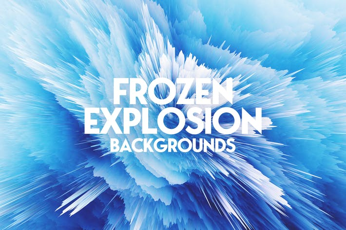 Thumbnail for Frozen Explosion Background Set