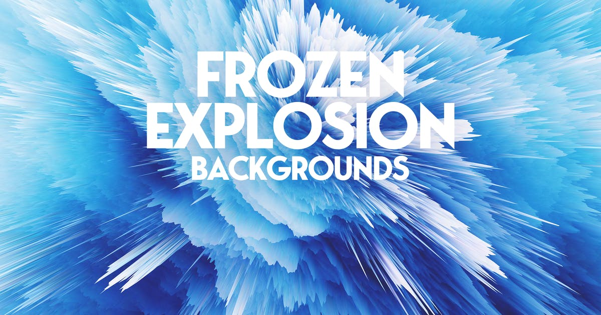 Download Frozen Explosion Background Set by themefire