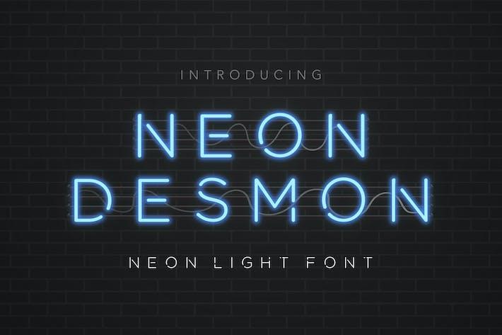 Thumbnail for Neon Desmon - Neon Light Font