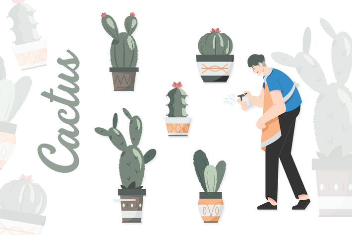 Thumbnail for Cactus - illustrations