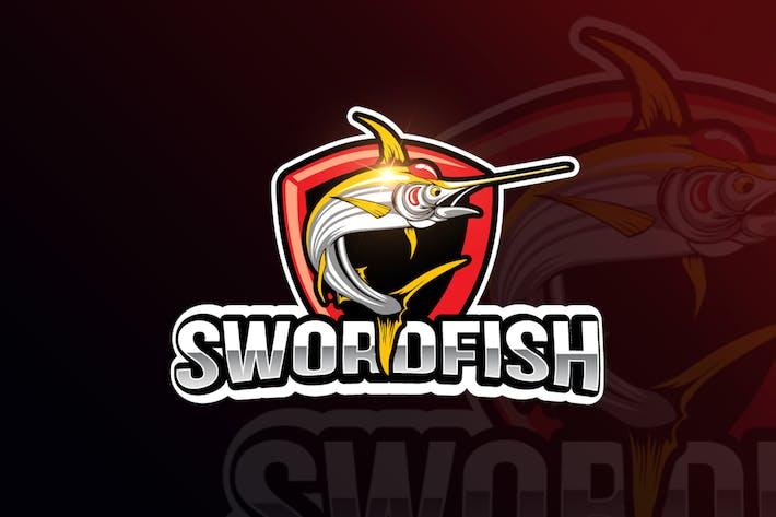 Thumbnail for Logo para jogos Swordfish Mascot & eSports
