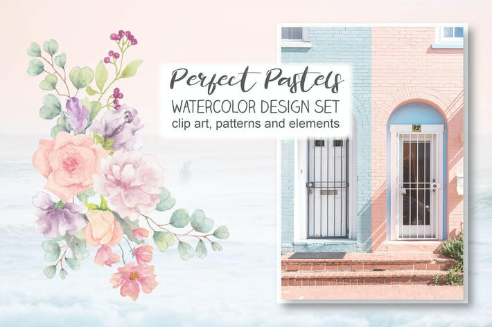 Thumbnail for Watercolor Design Set: Perfect Pastels