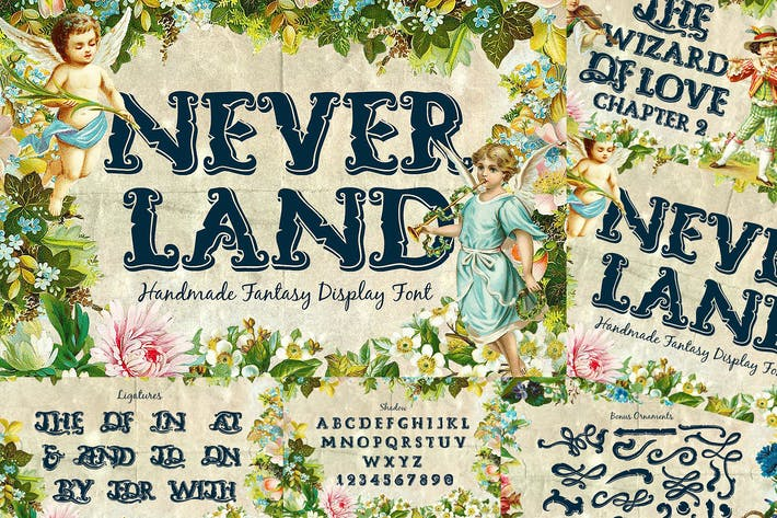 Thumbnail for Neverland Fantasy Display Serif Vintage Font