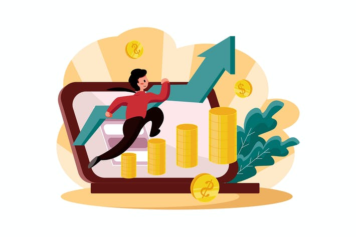 Thumbnail for Geschäftsmann mit Gewinnwachstumskonzept