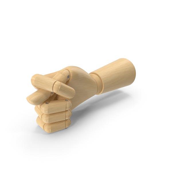 Wooden Hand Fig Gesture