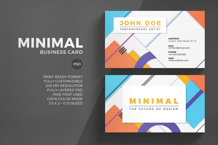 Minimal business card template by eightonesixstudios on envato elements cover image for minimal business card template reheart Choice Image