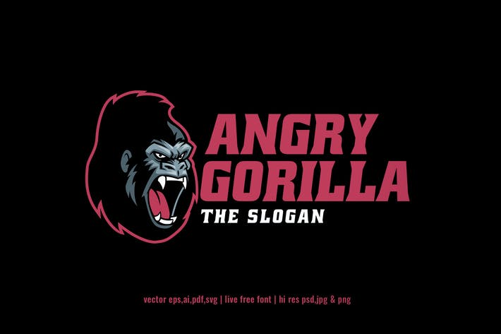 Thumbnail for angry gorilla sport and esport logo