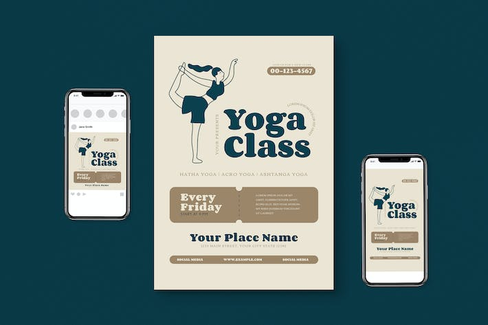 Thumbnail for Yoga Class Flyer Pack