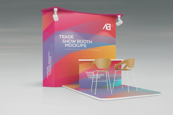 Exhibition Booth Psd : Trade show booth mockups by wutip on envato elements